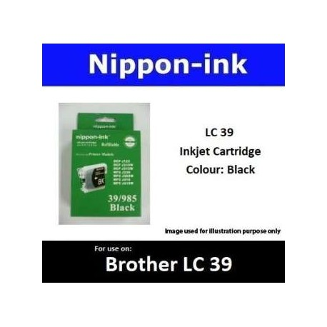 LC39 Black for Brother Ink Cartridge