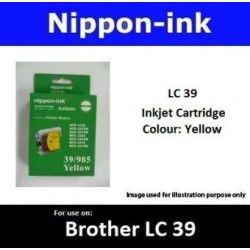LC39 Yellow for Brother Ink Cartridge - LC39Y