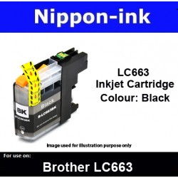 LC663 Black for Brother ink cartridge - LC663BK