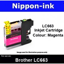 LC663 Magenta for Brother ink cartridge - LC663M