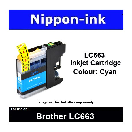 LC663 Cyan for Brother ink cartridge - LC663CY