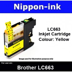 LC663 Yellow for Brother ink cartridge - LC663Y