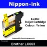 LC663 Yellow Compatible for Brother ink cartridge - LC663Y / LC-663 / LC 663 For Printer: MFC-J2320 , MFC-J2720