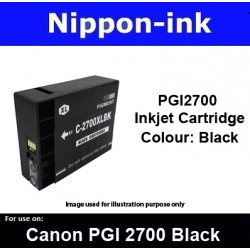 PGI2700 Black For Canon ink cartridge - MB5070 MB5170 MB5370 MB5470 iB4070  iB4170 - PGI2700BK