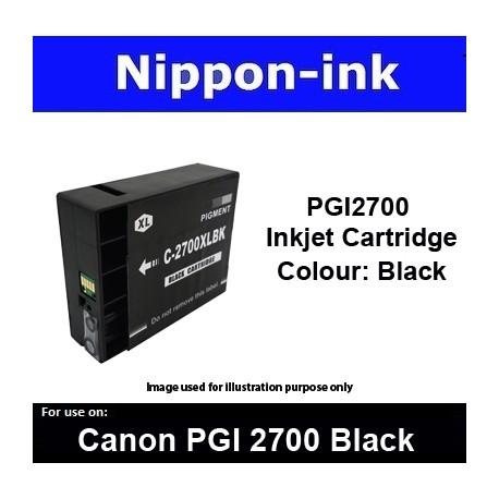 PGI2700 Black For Canon ink cartridge - MB5070 MB5170 MB5370 MB5470 iB4070  iB4170 - PGI2700BK