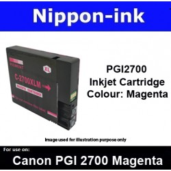 PGI2700 Magenta ( M ) For Canon ink cartridge - MB5070 MB5170 MB5370 MB5470 iB4070  iB4170 - PGI2700M