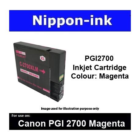 PGI2700 Magenta ( M ) For Canon ink cartridge - MB5070 MB5170 MB5370 MB5470 iB4070  iB4170 - PGI2700M
