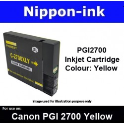 PGI2700 Yellow ( Y ) For Canon ink cartridge - MB5070 MB5170 MB5370 MB5470 iB4070  iB4170 - PGI2700Y