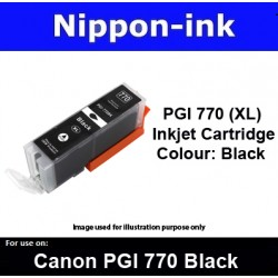 PGI770 XL Black ( BK ) for Canon ink cartridge - MG5770 MG7770 TS5070 TS8070 - PGI770BK PGI-770BK PGI 770