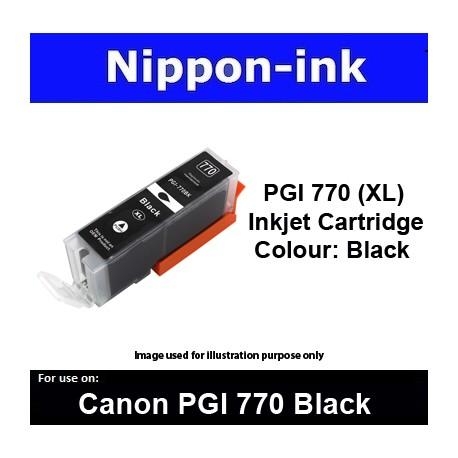 PGI770 XL Black ( BK ) for Canon ink cartridge - MG5770 MG7770 TS5070 TS8070 - PGI770BK PGI-770BK PGI 770