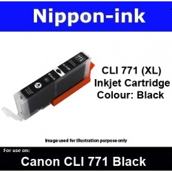 CLI770 XL Black ( BK ) for Canon ink cartridge - MG5770 MG7770 TS5070 TS8070 - CLI771BK CLI-771BK CLI 771