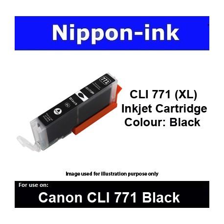 CLI770 XL Black ( BK ) for Canon ink cartridge - MG5770 MG7770 TS5070 TS8070 - CLI771BK CLI-771BK CLI 771