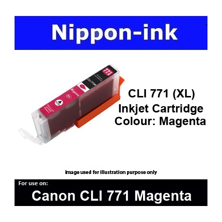 CLI770 XL Magenta ( M ) for Canon ink cartridge - MG5770 MG7770 TS5070 TS8070 - CLI771M CLI-771M CLI 771