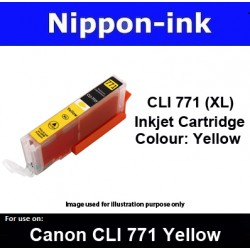 CLI770 XL Yellow ( Y ) for Canon ink cartridge - MG5770 MG7770 TS5070 TS8070 - CLI771Y CLI-771Y CLI 771Y CLI 771 Y