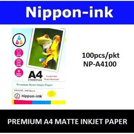 NP-A4100 100pcs Inkjet Paper (Matte) 110GSM