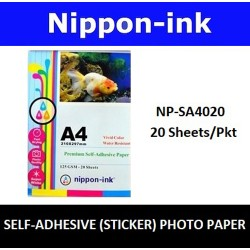 NP-SA4020 A4 Glossy Self Adhesive ( Sticker ) Photo 125GSM Inkjet Paper 20 pcs