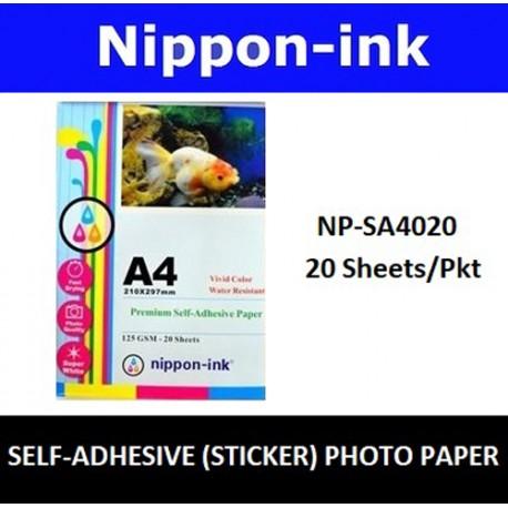 NP-SA4020 A4 Glossy Self Adhesive ( Sticker ) Photo 125GSM Inkjet Paper 20 pcs