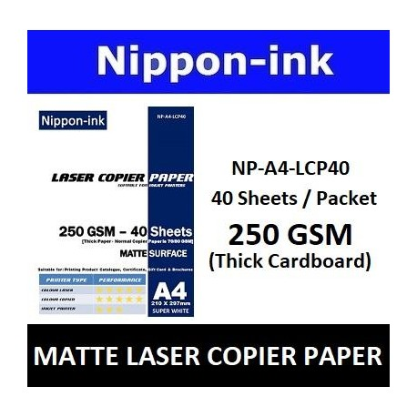 A4 250GSM ( Thick ) Laser Copier Paper 40 pcs
