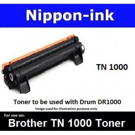 TN 1000 Black For Brother laser toner TN1000 Nipponink
