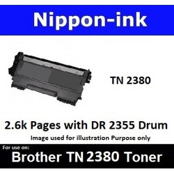 TN 2380 Black For Brother laser toner TN2380 Nipponink