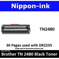 TN 2480 Black For Brother laser toner TN2480 Nipponink