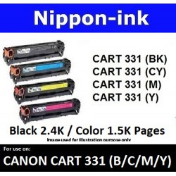 Cartridge 331 For Canon laser toner Cartridge331 Nipponink  ( Colour Selection Black Cyan Magenta Yellow )