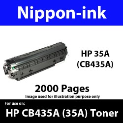 For HP 35 A ( CB 435A ) Black 435 laser Toner Nipponink 35A ( CB435A )