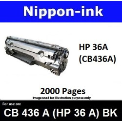 For HP 36 A ( CB 436A ) Black 436 laser Toner Nipponink 36A ( CB436A )