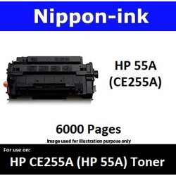 For HP 55 A ( CE 255A ) Black laser Toner Nipponink 55A ( CE255A )