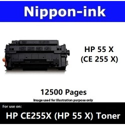 For HP 55 X ( CE 255X ) Black laser Toner Nipponink 55X ( CE255X )