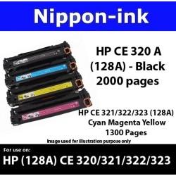 For HP 128 A ( CE 320A 321A 322A 323A ) laser Toner Nipponink 128A ( CE320A CE321A CE322A CE323A )( Black Cyan Magenta Yellow )