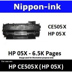 For HP 05 X ( CE 505X ) Black laser Toner Nipponink 05X ( CE505X )