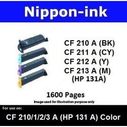 For HP 131 A ( CF 210A 211A 212A 213A ) laser Toner Nipponink 131A ( CF210A CF211A CF212A CF213A )( Black Cyan Magenta Yellow )