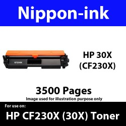 For HP 30 X ( CF 230X ) Black laser Toner Nipponink 05X ( CF230X )