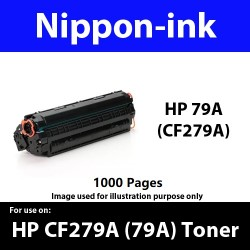 For HP 79 A ( CF 279A ) Black laser Toner Nipponink 79A ( CF279A )