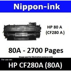 For HP 80 A ( CF 280A ) Black laser Toner Nipponink 80A ( CF280A )