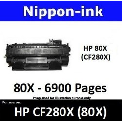 For HP 80 X ( CF 280X ) Black laser Toner Nipponink 80X ( CF280X )