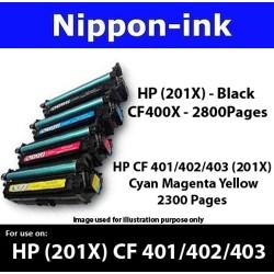 For HP 201 X ( CF 400X 401X 402X 403X ) laser Toner Nipponink 201X ( CF400X CF401X CF402X CF403X )( Black Cyan Magenta Yellow )