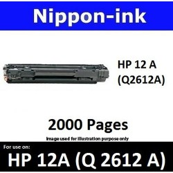 For HP 12 A ( Q 2612A ) Black 2612 laser Toner Nipponink 12A ( Q2612A )