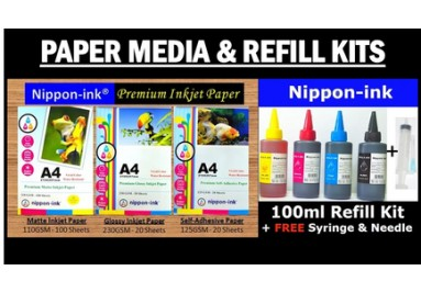 Inkjet laser Paper and Refill kits